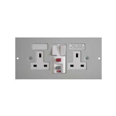 1 To 3 Compartment Plate - 2x RCD Protected Sockets