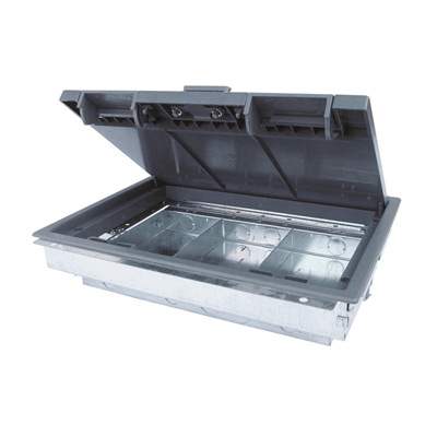 Floor Box 3 or 4 Compartment 64mm Deep