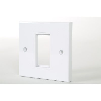 1 Gang White Frame Accepts 1 Euro Module