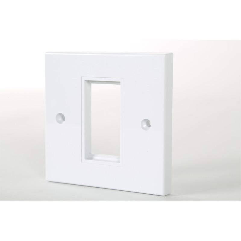 1 Gang White Frame Accepts 1 Euro Module