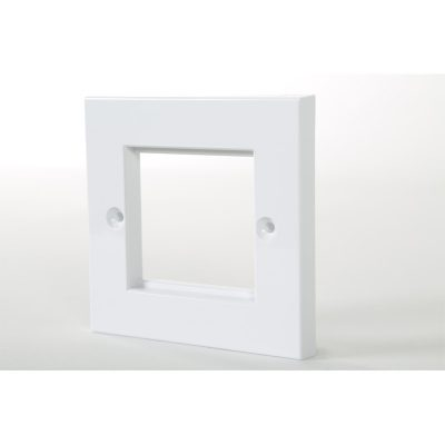1 Gang White Frame Accepts 2 x Euro Modules