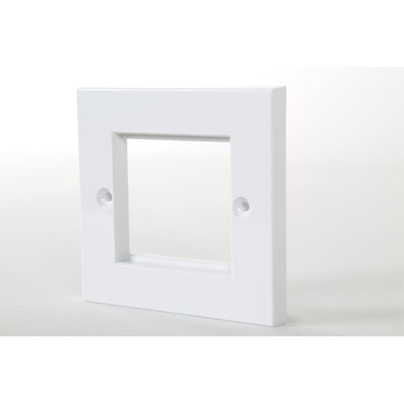 1 Gang White Frame Accepts 2 x Euro Modules