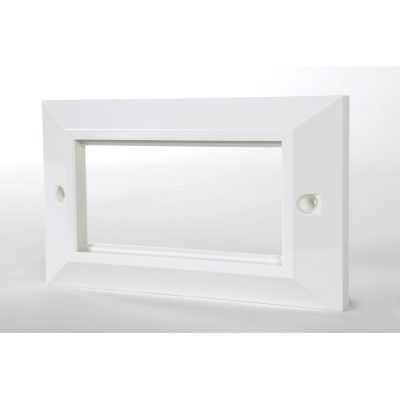 2 Gang Bevelled White Frame Accepts 4 Euro Modules