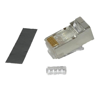 RJ45 8 Position 8 Contact Plug For Cat6a Cable