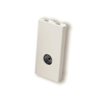 Female TV Coax Module - White