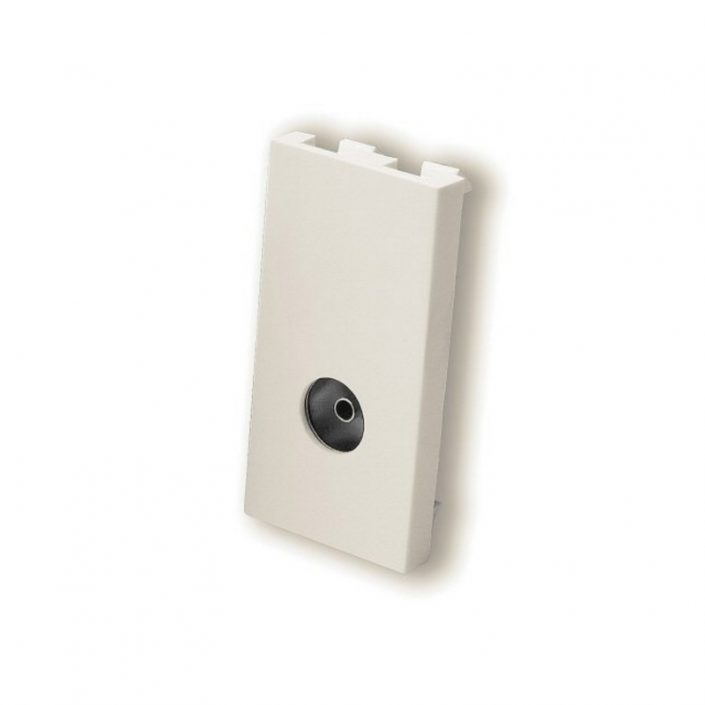 Female TV Coax Module - White