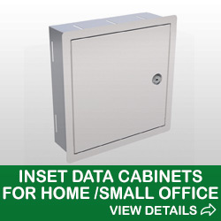 Image of Inset Data Cabinet for Home or Small Office