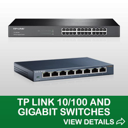 Image of TP Link 10/100 and Gigabit Switches