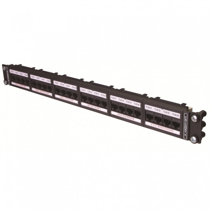 "1U 19"" 24 Port Global Patch Panel Cat6"