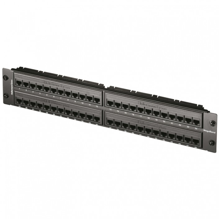"2U 19"" 48 Port MegaBand Patch Panel Cat5e"