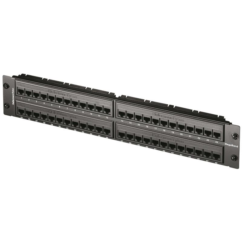 """2U 19"""" 48 Port MegaBand Patch Panel Cat5e"""