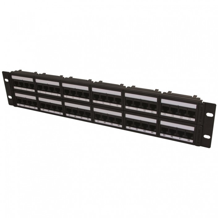 "2U 19"" 48 Port Global Patch Panel Cat5e"