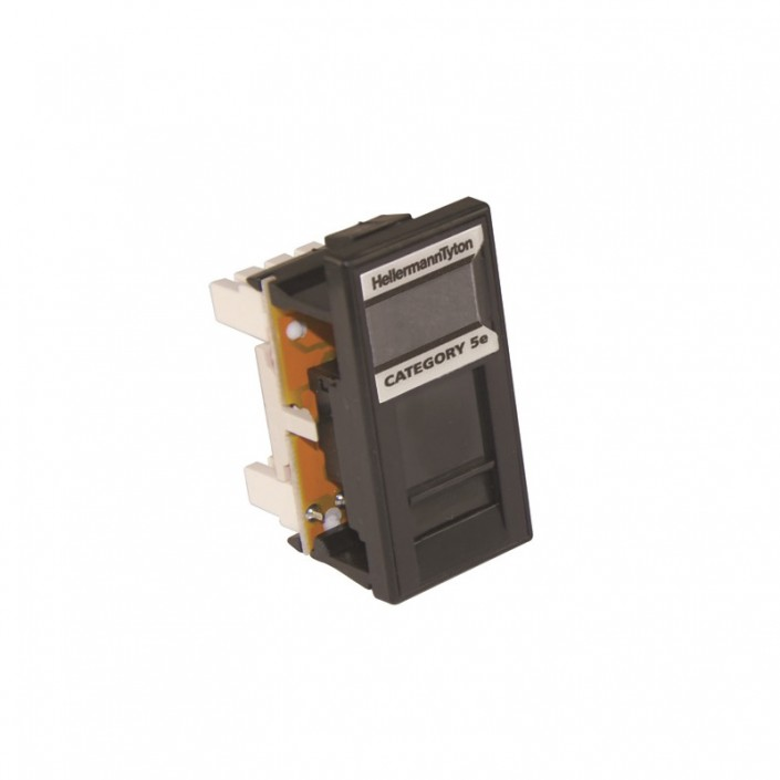 HellermannTyton Alpha Snap Cat5e UTP Black Module