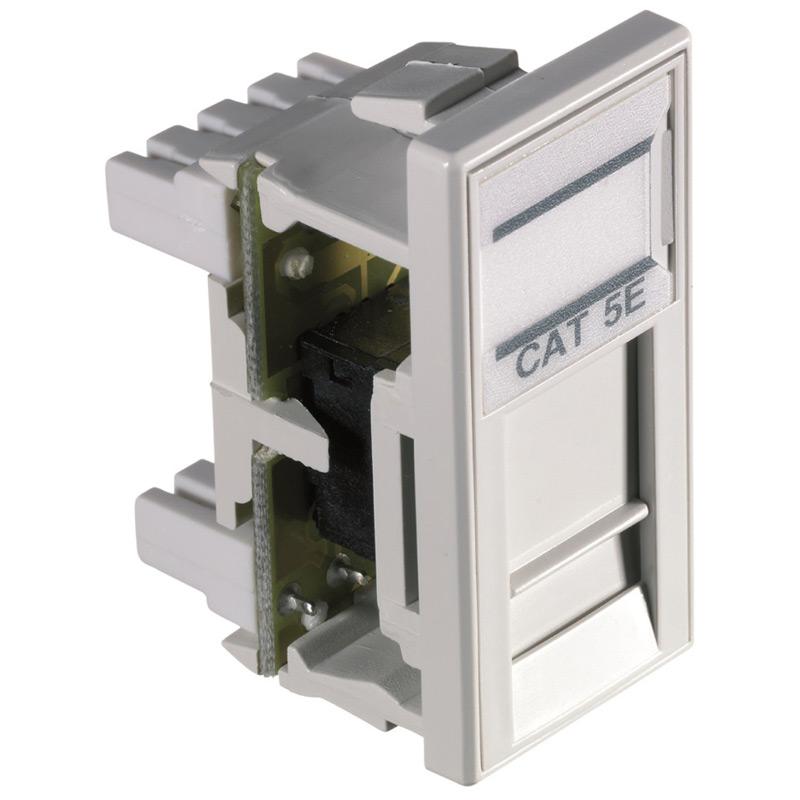 HellermannTyton Alpha Snap Cat5e UTP White Module
