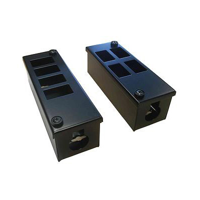 Metal POD Box 6 Way Horizontal 25mm