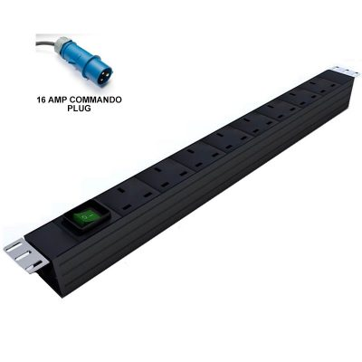 Prism Vertical PDU - UK To 16Amp Commando - 8 Way