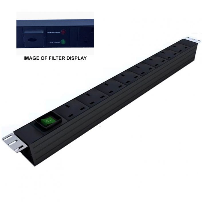 Prism Filtered Vertical PDU - UK - 8 Way