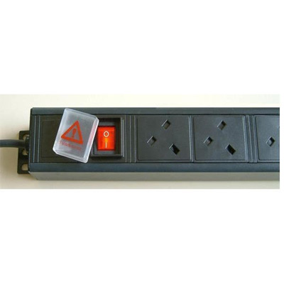 6 Way Horizontal PDU UK 13A Sockets To UK 13A Plug