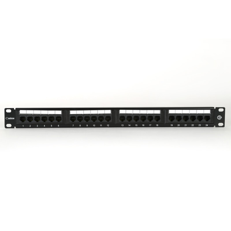 "1U 19"" 24 Port Patch Panel Cat5e includes Label Set"