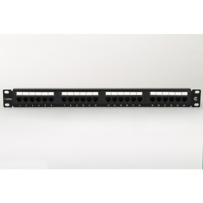 "1U 19"" 24 Port Patch Panel Cat6 incl' RM and Label Set"