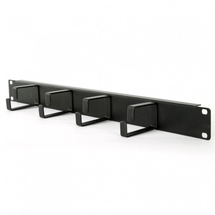 "1U 19"" Cable Manager Panel - Four Vertical Rings"