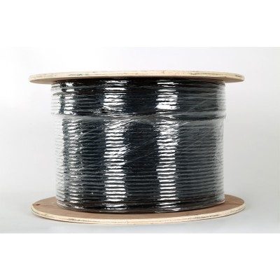 Cat6 Solid U/UTP Double PVC External Black LAN Cable x500mtr