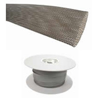 Braided Sleeving 28x47mm Grey LSZH