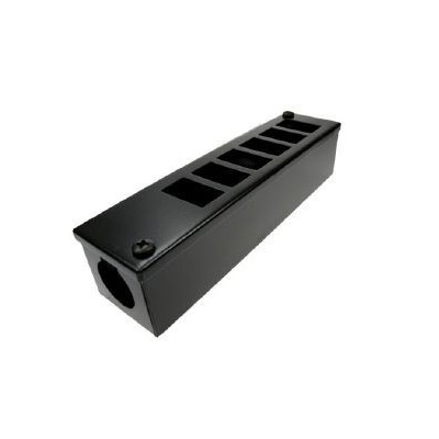 Metal POD Box 6 Way Horizontal 25mm Gland Entry