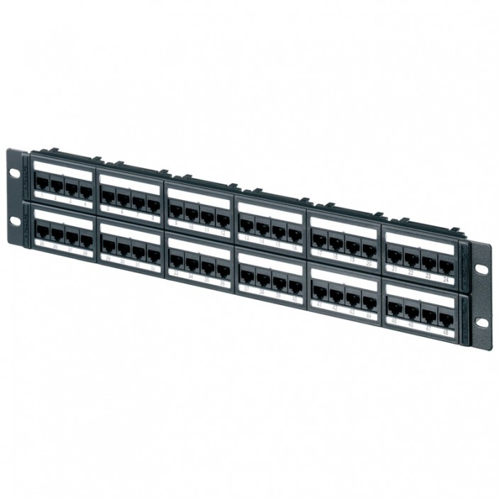 "2U 19"" 48 Port Global Patch Panel Cat6"