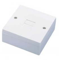 Single Telecom Line Jack Outlet With Back Box