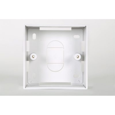 1 Gang White PVC Backbox 32mm