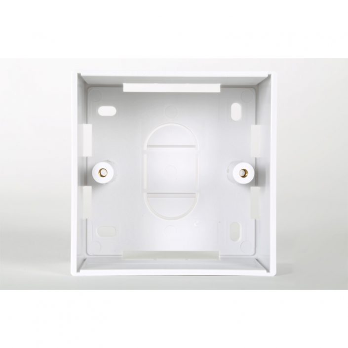 1 Gang White PVC Backbox 45mm