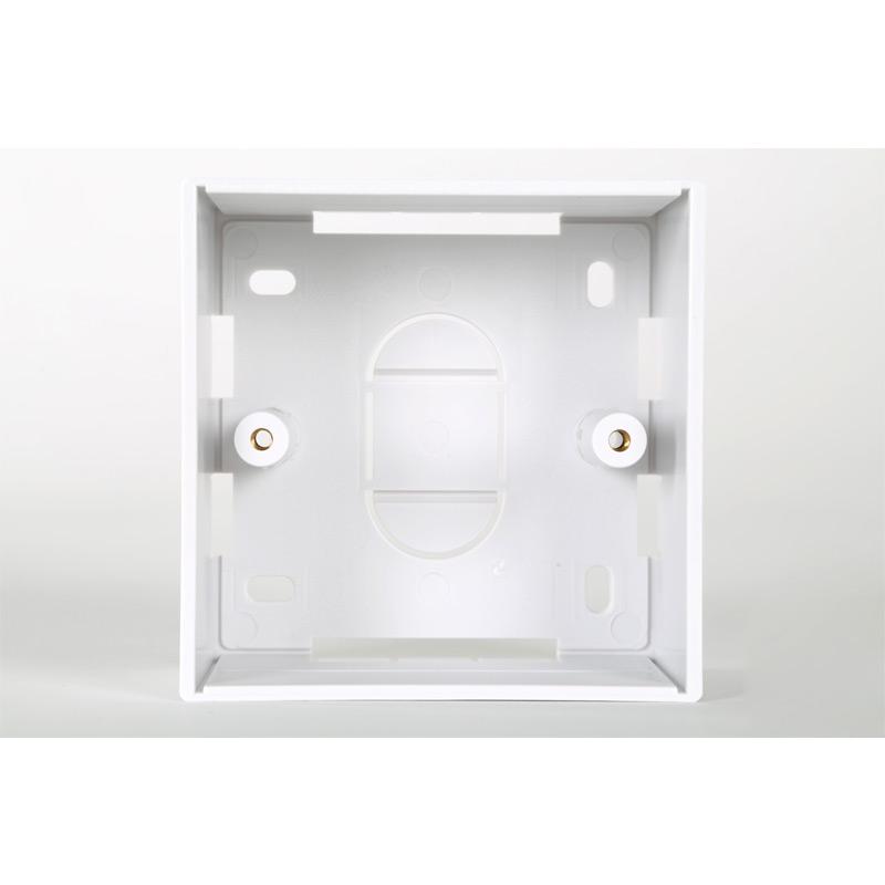 1 Gang White PVC Backbox 45mm