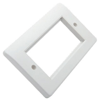 Excel Office Double Gang White Faceplate