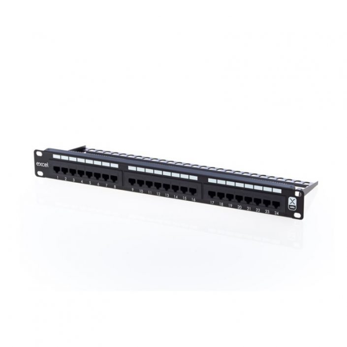 Excel Cat6 24 Port RJ45 Patch Panel