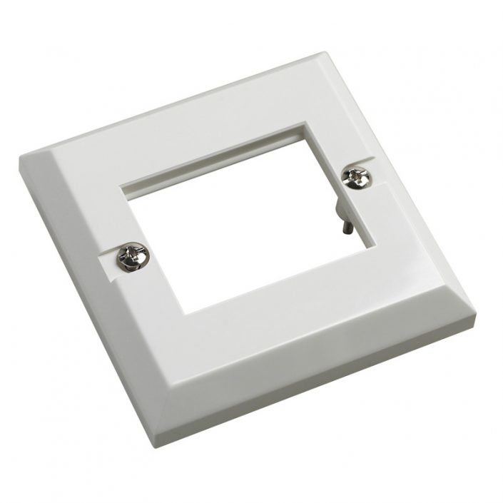 Excel 6C Single Gang White Faceplate