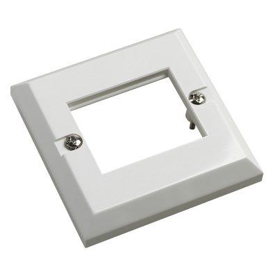 Excel 6C Double Gang White Faceplate