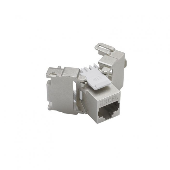Excel Cat6a Screened Toolless Keystone Jack - Frontview