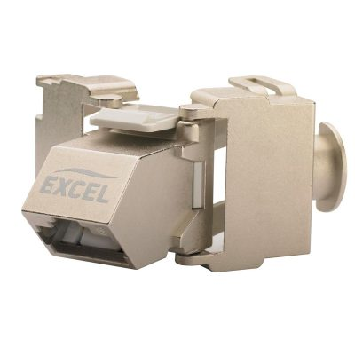 Excel Cat6a Screened Angled Toolless Keystone Jack-Frontview
