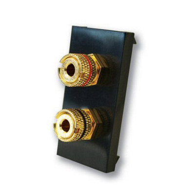 Twin Post Banana Plug Module - Black