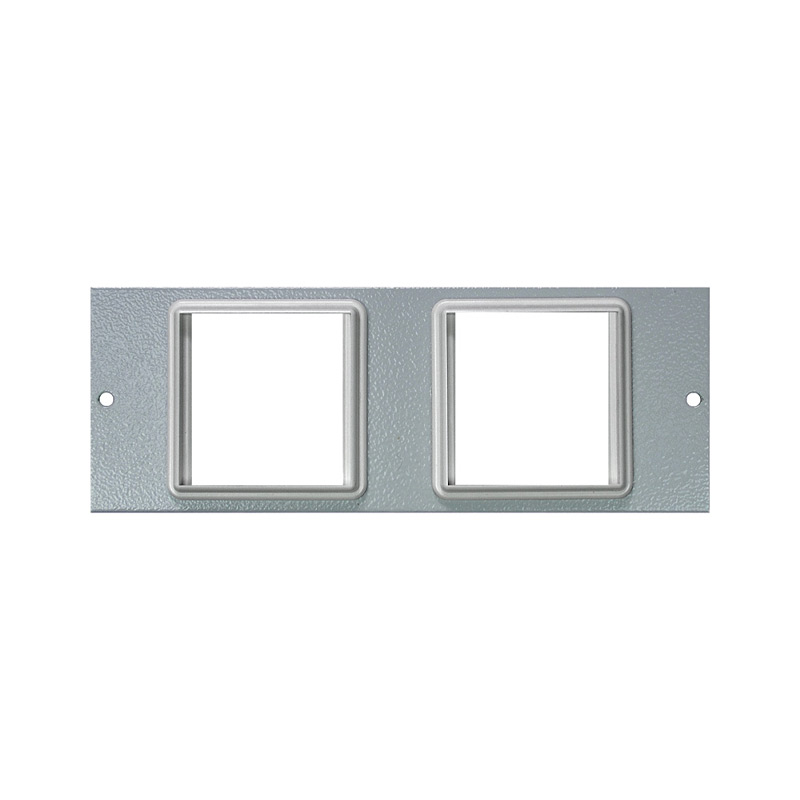4 Compartment Plate – 2x Euro 50x50mm Cut Outs