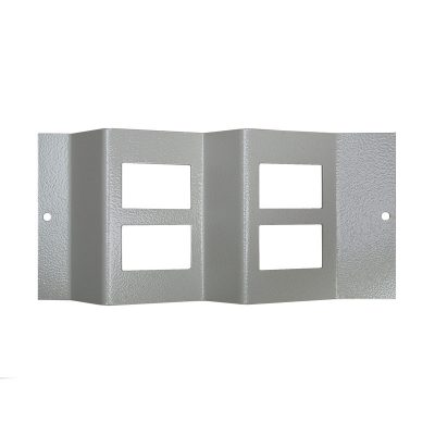 1 To 3 Compartment Plate 4x LJ6C Angled Cut Outs