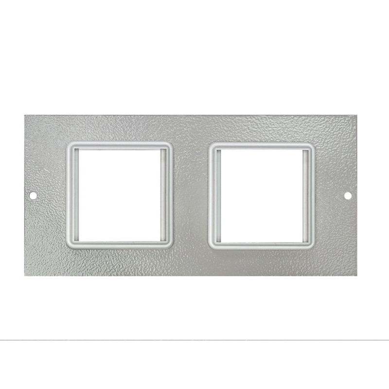 1 To 3 Compartment Plate – 2x Euro 50x50mm Cut Outs