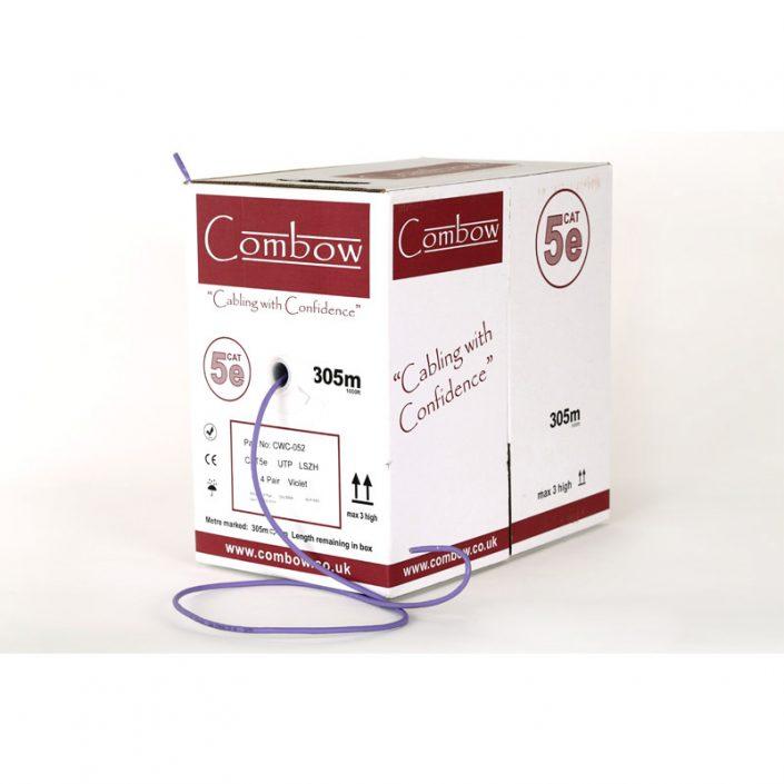 Cat5e Solid U/UTP LSZH Violet LAN Cable x305mtr
