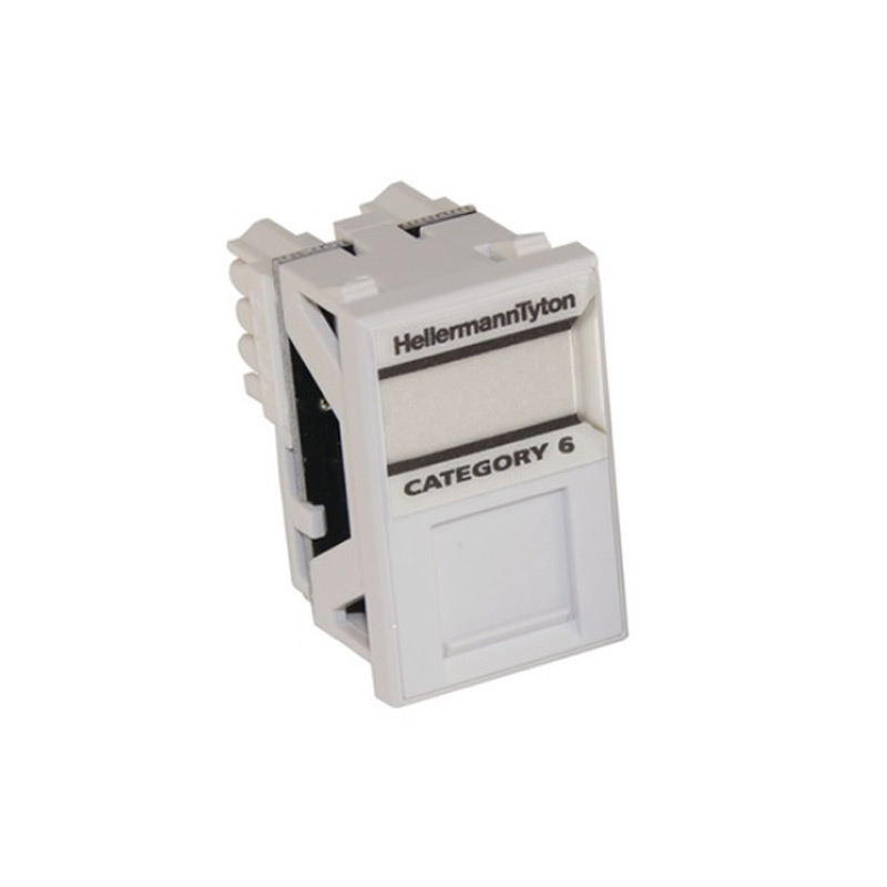 HellermannTyton Cat6 UTP Module LJ6C Size In White