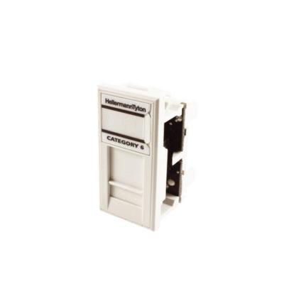 HellermannTyton Gigaband Cat6 UTP White Module