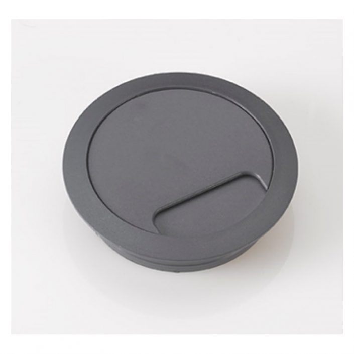 Desk Access Grommet 80mm Diameter In Grey