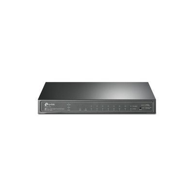 TP-LINK JetStream 8 Port Gigabit Smart PoE Switch with 2 SFP Slots T1500G-10PS