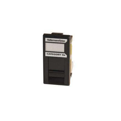 HellermannTyton Easy Clip Cat5e UTP Euro Module Black EC08KBC5E-BK