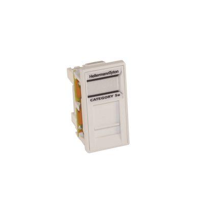 HellermannTyton Easy Clip Cat5e UTP Euro Module White EC08KBC5E-WH